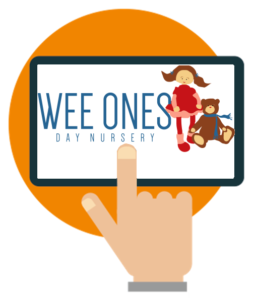 Wee ones day nursery software case study logo