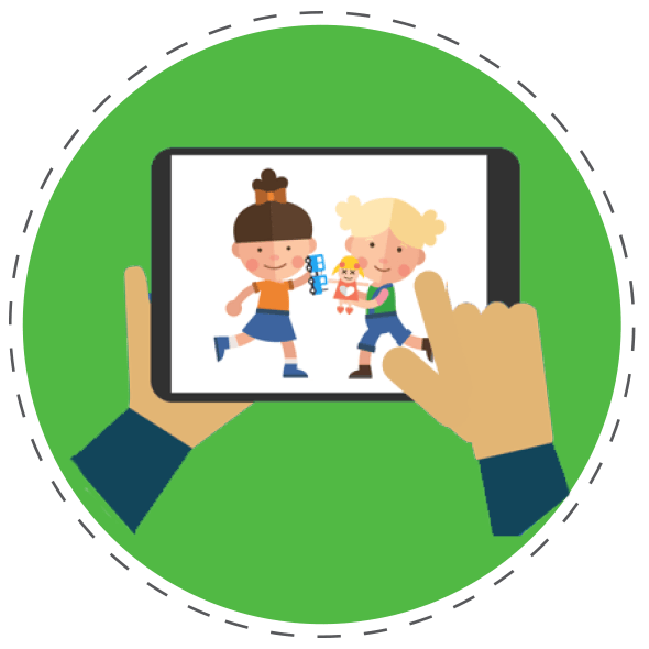 Children Playing Image on Tablet iConnect