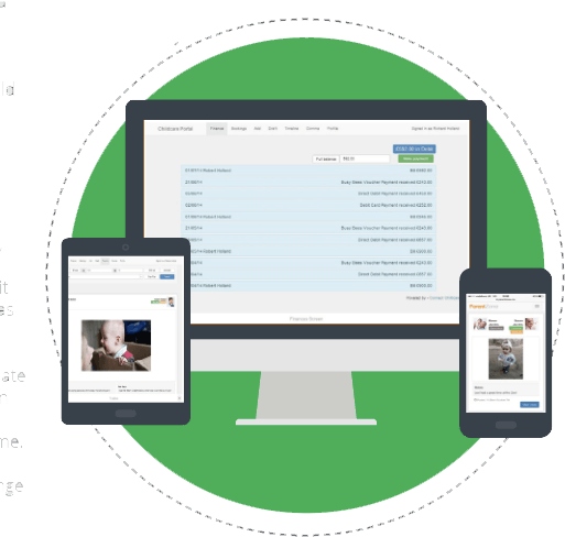Software on devices, phone desktop and tablet