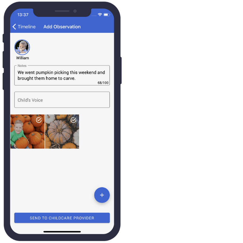 ParentZone add observations from home