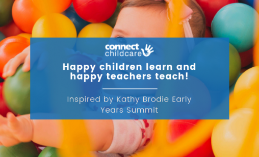 Happy children learn and happy teachers teach