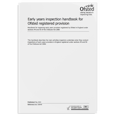 Early Years Inspection Handbook for Ofsted