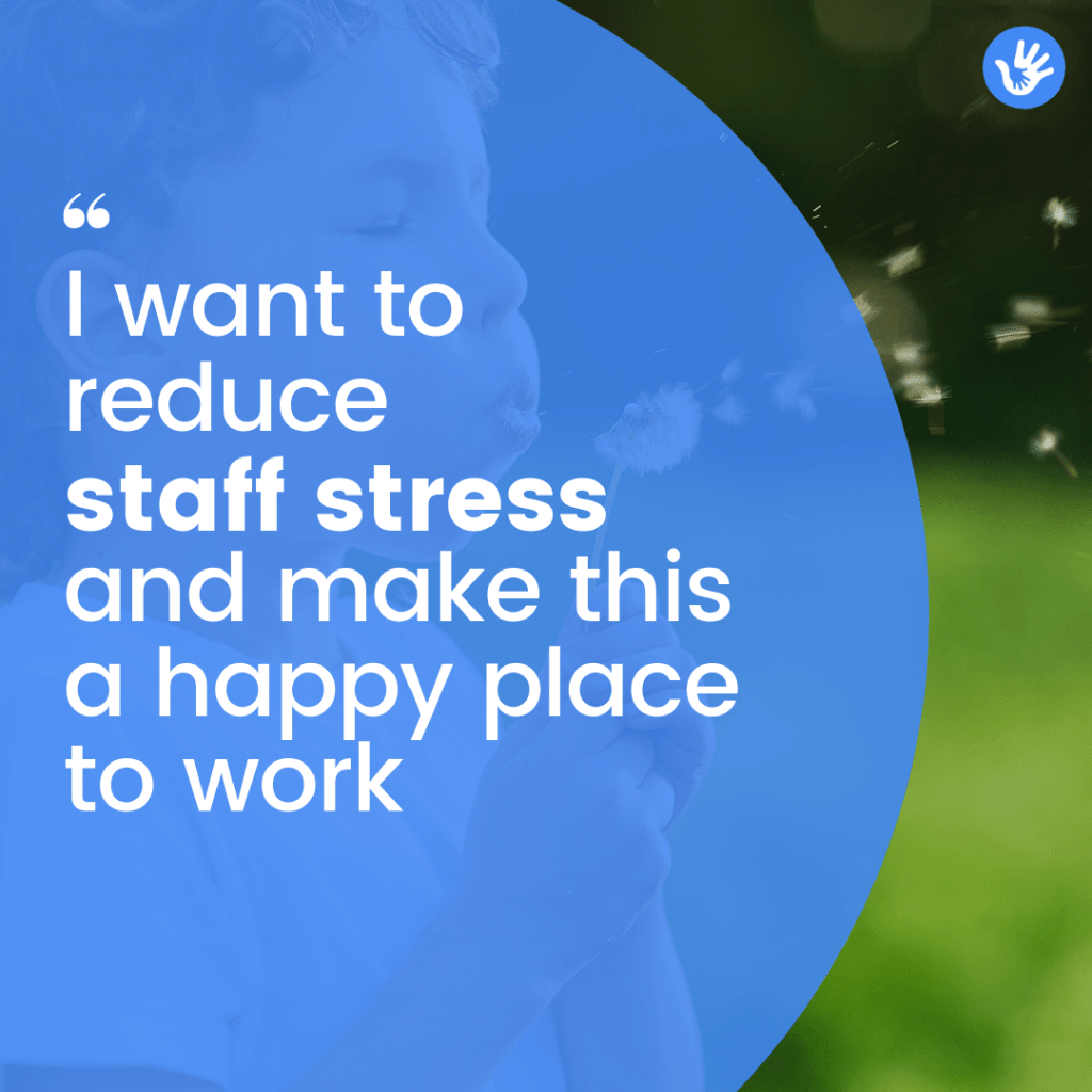 reducing staff stress in nurseries