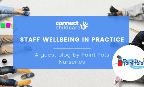 Staff wellbeing in practice by paint pots