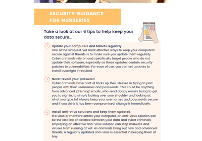 Security Guidance for Nurseries factsheet cover